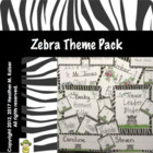 Zebra theme classroom pack