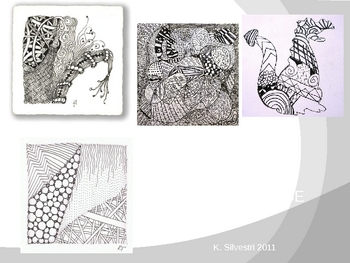 Zentangle (Doodling) Art Lesson