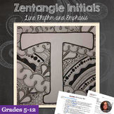 Zentangle Letters - Line, Rhythm, Emphasis
