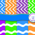 FREEBIE: Zig Zags & Waves Digi Papers {Clipart Collection}