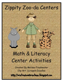 Zippity ZOO-Da Math & Literacy Center Activities