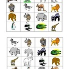 Zoo Animal Bingo Boards set of 32