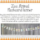 Zoo Animal Flashcard Banner for Classroom Decoration