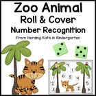 Zoo Animal Roll &amp; Cover Number Recognition Games!