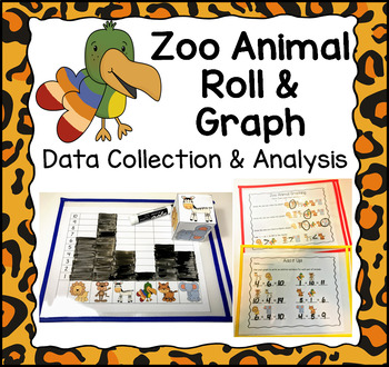 Zoo Animal Roll & Graph Activity