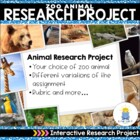 Zoo Animals Research Project (A Not So Wimpy Resource)