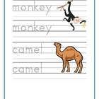 Zoo Animals Writing, Reading and Counting worksheets