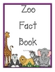 Zoo Facts Writing Journal