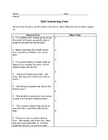 """Zoo"" Inferencing Chart Plus Answers"