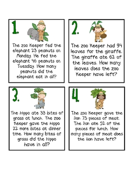 Zoo Keeper Problem Solving with Tens and Ones