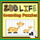 Zoo Life Counting Puzzles {Common Core Aligned}