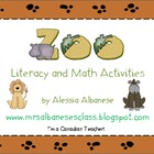 Zoo Literacy and Math Activities