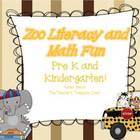 Zoo Literacy and Math Fun For PreK And Kindergarten!