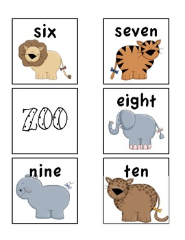 Zoo! Number recognition game