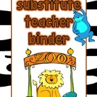 Zoo Theme Substitute Binder