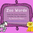 Zoo Vocabulary/Read the Room Activity