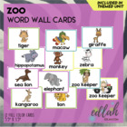 Zoo Word Wall Cards (set of 6)