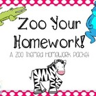 Zoo Your Homework! A Zoo Themed Homework Packet
