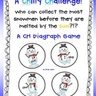 a CHilly CHallenge!  CH Diagraph Game!  FUNdations Connected!