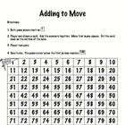 addition facts game-adding to move