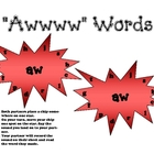 &quot;aw&quot; Phonics Stars