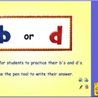 b or d Flipchart for Activboard or Smartboards