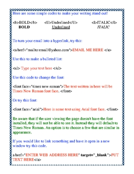 <b>HTML code for your TPT products and teacher's web</b>