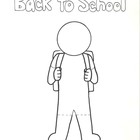Back to School Boy and Girl Coloring Page
