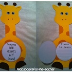 back to school giraffe ~ reaching new heights {a craftivity}