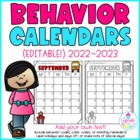 behavior calendars {editable!} 2013-2014