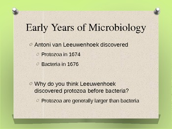 brief history of microbiology presenation