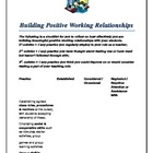 building positive working relationships