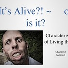 characteristics of LIVING THINGS presenation