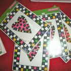 checkerboard heart & fram diecuts