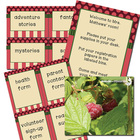 classroom decorative paper and label set - raspberry inspired