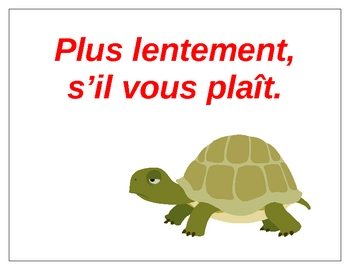 classroom phrases mini-posters in French