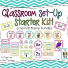 classroom set-up starter kit! {chevron theme bundle}