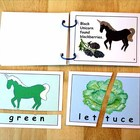 "colors n food mini book n puzzles - ""A Unicorn Picnic in t"