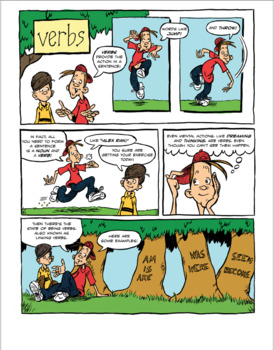 comic lesson on verbs