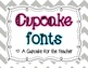 cupcake fonts {personal &amp; commercial use}