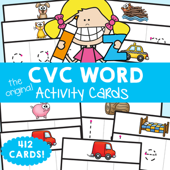 cvc Words Write'n'Wipe Cards - Print, Laminate, Write & Learn!