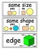 enVision Grade K Topics 7-8 Vocabulary Word Wall Cards