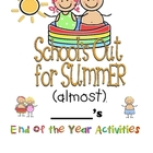 end of school year activities