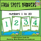 Frog  Spots Number Cards- Numbers 1 to 20
