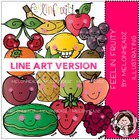 feelin fruity LINE ART bundle by melonheadz