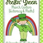 feelin&#039; green march centers {literacy &amp; math}