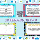 fourth grade math and ela common core posters  (all standards)