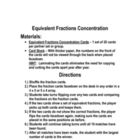 fractions - EQUIVALENT FRACTIONS GAME / Math ACTIVITY