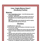geometry - Lines and Angles Memory Game 2 - (vocabulary)