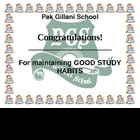 good study habit award for student